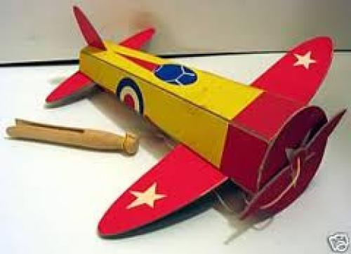 1940's Childs Toy Airplane On String