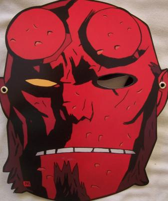 Hellboy Dark Horse 2011 Comic-Con promo mask