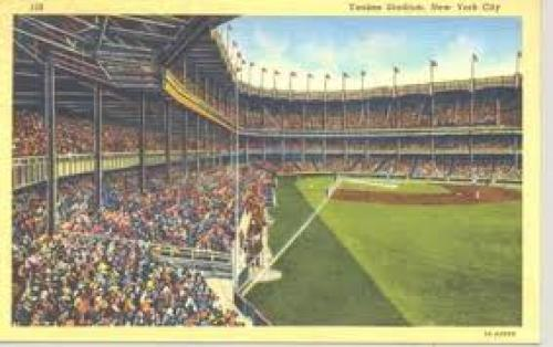 Postcards; Yankee Stadium, New York, USA postcard of 1947