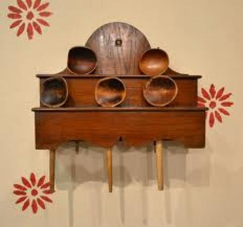 Antique wooden spoon rack