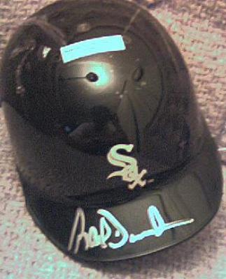 Ray Durham autographed Chicago White Sox mini helmet