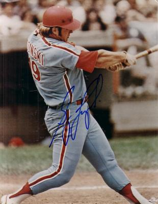 Greg Luzinski autographed 8x10 Philadelphia Phillies photo