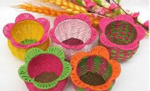 Crafts; Pure handmade rattan Storage Basket / Fruit Basket