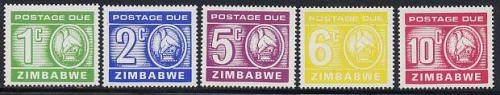 Postage due 5v; Year: 1980