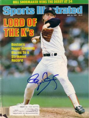 Roger Clemens autographed Boston Red Sox Strikeout Record 1986 Sports Illustrated