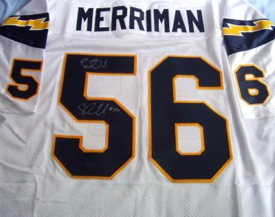 Shawne Merriman autographed San Diego Chargers authentic jersey inscribed Lights Out