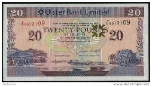 Banknotes; Irish 20 pounds