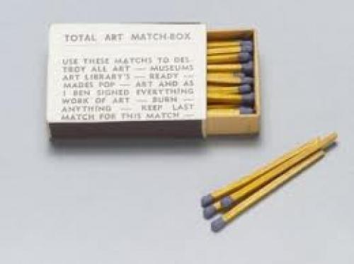 "Matchboxes; Total Art  from ""Flux Year Box 2."" c. 1965"