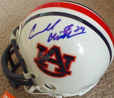 Carnell Cadillac Williams autographed Auburn mini helmet