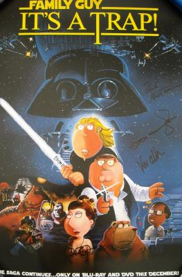 Alex Borstein autographed Family Guy It's A Trap 2010 Comic-Con poster