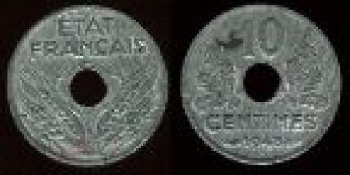 10 centimes; year: 1943-1944; (km 903)