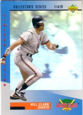 Will Clark 1993 Upper Deck Denny's Grand Slam hologram card