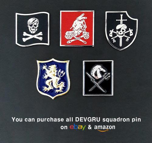 U.S. Navy SEAL Team 6 Six DEVGRU Squadron Insignia Metal Badge Pins