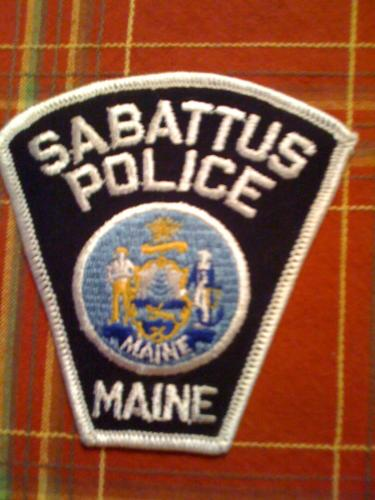 Old Sabattus Maine Police patch