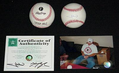 J.D. Drew autographed NL baseball (Superstar Greetings)