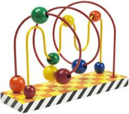 Waves Spiral Patterned Bead Maze Toy Roller coaster