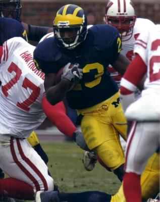 Chris Perry 8x10 Michigan photo