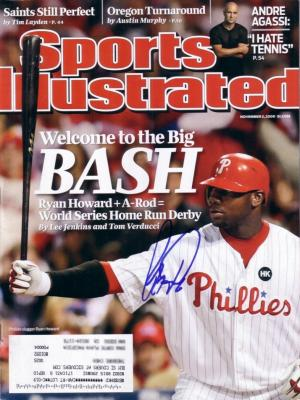 Ryan Howard autographed Philadelphia Phillies 2009 Sports Illustrated