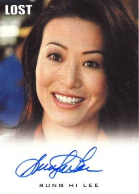 Sung Hi Lee Lost certified autograph card