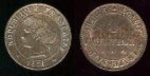 1 centime; Year: 1872-1897; (km 826)
