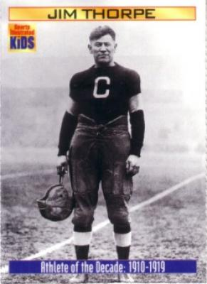 Jim Thorpe 2000 Sports Illustrated for Kids card (Athlete of the Decade)