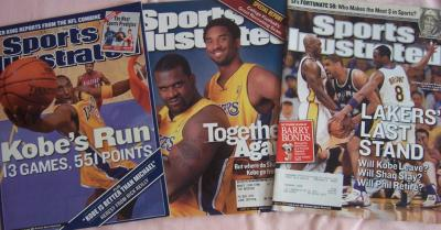 Kobe Bryant lot of three Sports Illustrated issues