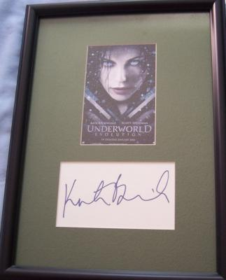 Kate Beckinsale autograph matted &amp; framed with Underworld Evolution movie postcard