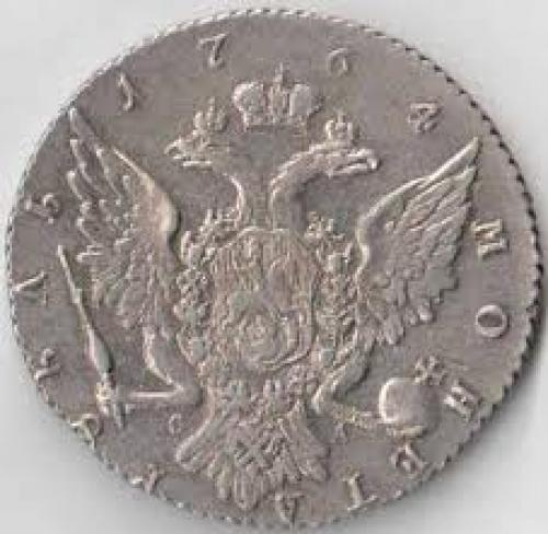 Coins; Coin RUSSIA 1 rouble 1764 Catherine II (1762-1796)