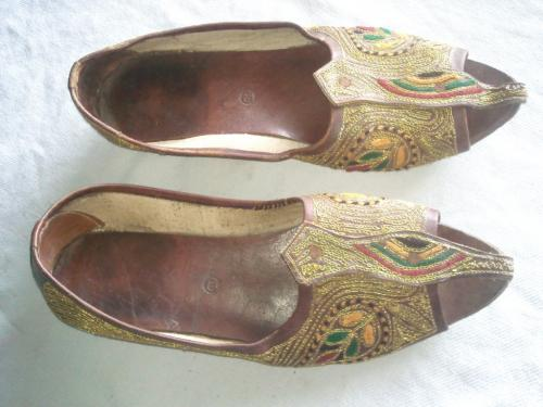 Old hand emboderied JUTI pair