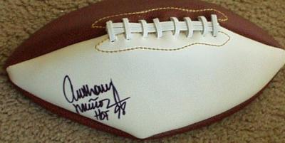 Anthony Munoz (Cincinnati Bengals) autographed full size white panel football