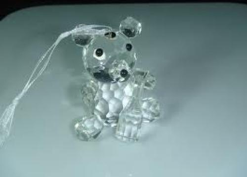 Crystal Animal for Christmas Decoration, Crystal Bear, Crystal Figurine