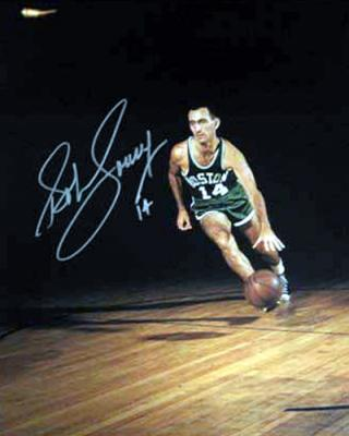 Bob Cousy autographed Boston Celtics 16x20 poster size photo