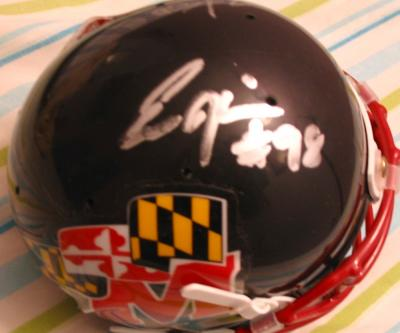 Eric Barton & Eric Hicks autographed Maryland mini helmet