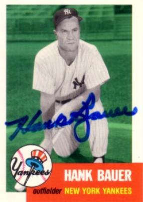 Hank Bauer autographed New York Yankees 1953 Topps Archives card