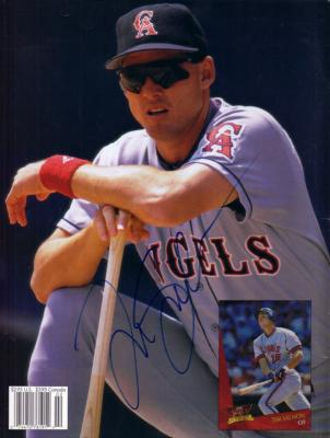 Tim Salmon autographed Angels Beckett magazine back cover photo