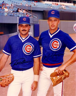 Mark Grace &amp; Rafael Palmeiro autographed Chicago Cubs 8x10 photo