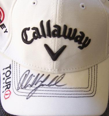 Phil Mickelson autographed Callaway Golf white cap or hat