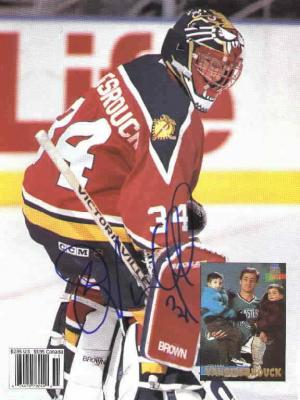 John Vanbiesbrouck autographed Florida Panthers Beckett Hockey back cover