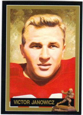 Vic Janowicz Ohio State Heisman Trophy winner card
