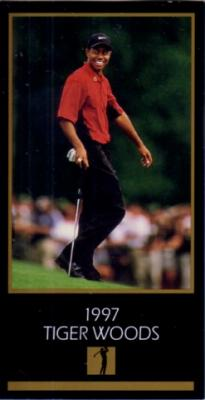 Tiger Woods 1997 Masters Champion golf card NrMt