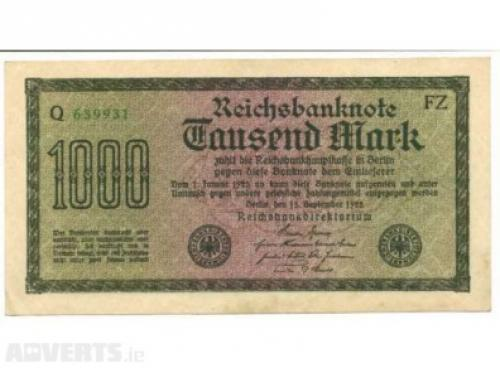 Germany 1000 Marks 1922