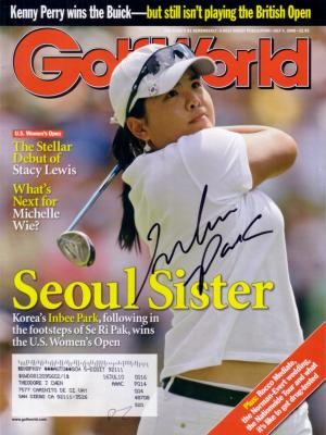 Inbee Park autographed 2008 U.S. Women's Open Golf World magazine