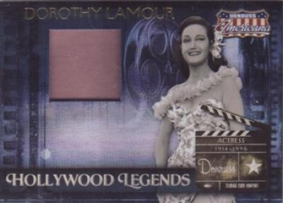 Dorothy Lamour worn dress swatch Donruss Americana card #116/325