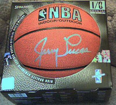 Jerry Lucas autographed NBA basketball