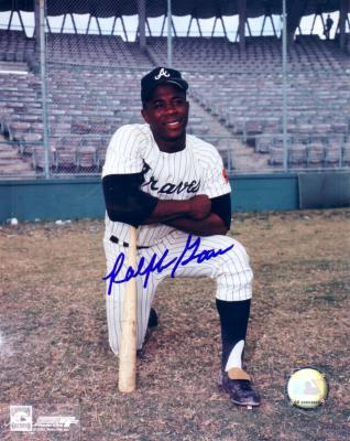 Ralph Garr autographed 8x10 Atlanta Braves photo