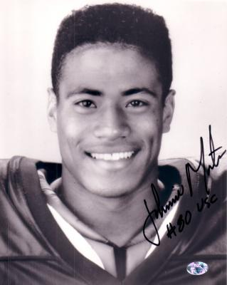 Johnnie Morton autographed 8x10 black & white photo