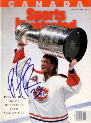 Patrick Roy autographed Montreal Canadiens 1993 Stanley Cup Champions Sports Illustrated