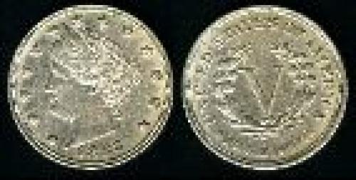 5 cents; Year: 1883; Liberty. Head No cents