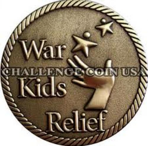 Coins; Challenge Coin USA donated coins to War Kids Relief
