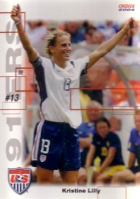 Kristine Lilly 2004 U.S. Women&#039;s National Team 91ers soccer card